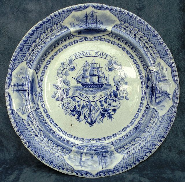 British Royal Navy Mess Plate No 16 Victorian Era 1840-1875