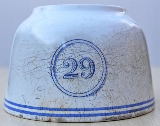 1867-1890 British Royal Navy Mess Bowl No 29 by WT Copeland & Sons, Stoke On Kent England