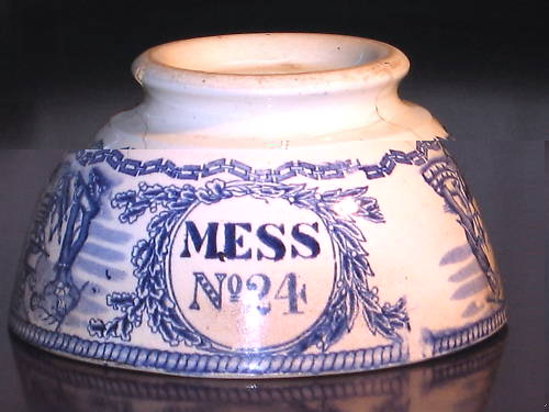1850-1901 British Royal Navy Mess Bowl No 24, Victoria, with Crown