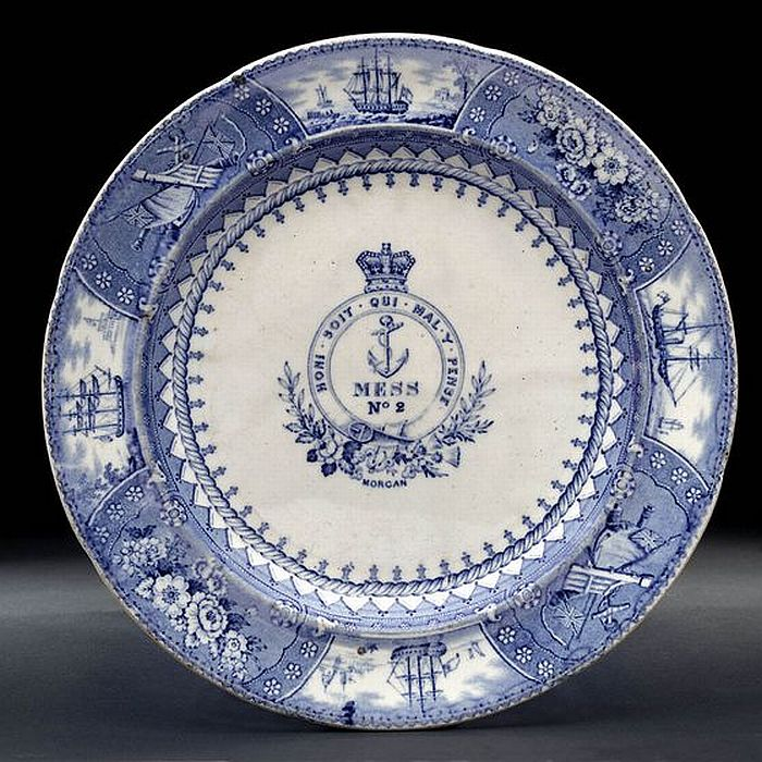 1840s0 1850s British Royal Navy Mess Plate   Victorian Era