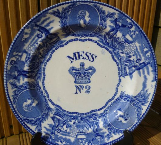 1901-1907 British Royal Navy Mess Plate No 2, Edward, with Crown