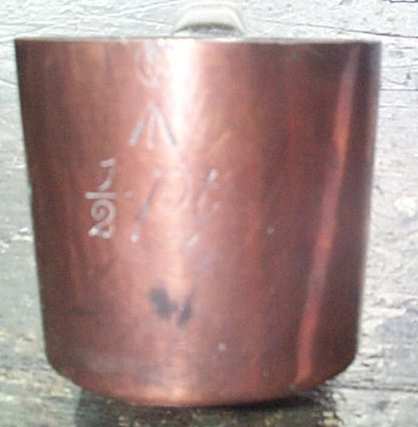 british royal navy rum cup 1/2 pint 19th century Queen Victoria