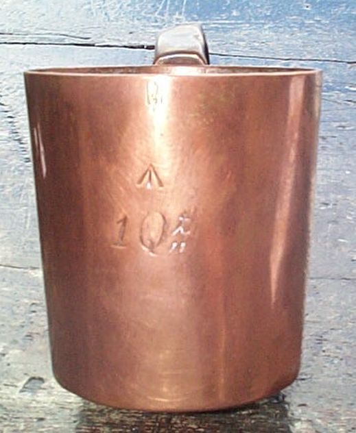 british royal navy rum grog measures, 1 quart