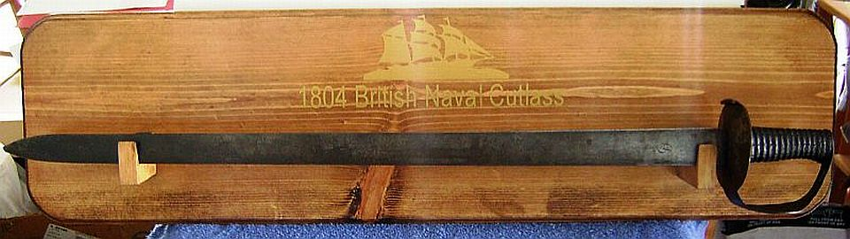 British Royal Navy Figure 8 Naval Cutlass 1804 Pattern, Trafalgar, War of 1812