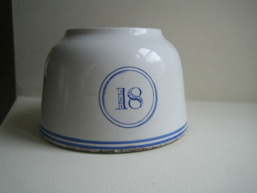 1867-1890 British Royal Navy Mess Bowl No 18 by WT Copeland & Sons, Stoke On Kent England