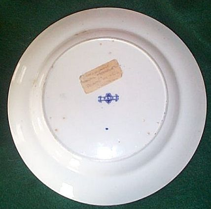 british royal navy mess plate with edward and crown pattern