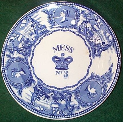 1850-1901 British Royal Navy Mess Plate No 3, Victoria, with Crown