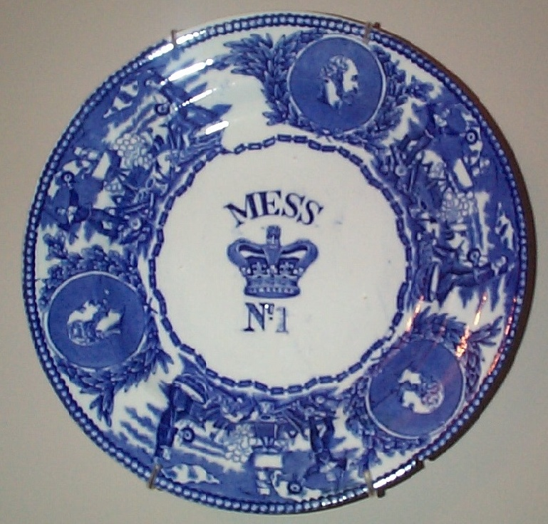 1901-1907 British Royal Navy Mess Plate No 1, Edward, with Crown