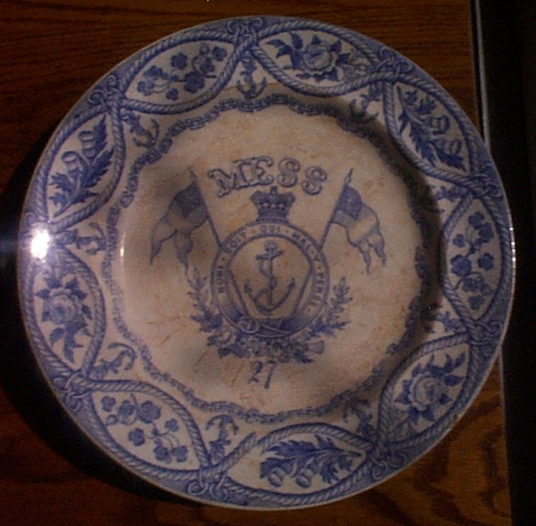 1850-1901 British Royal Navy Mess Plate No 27,