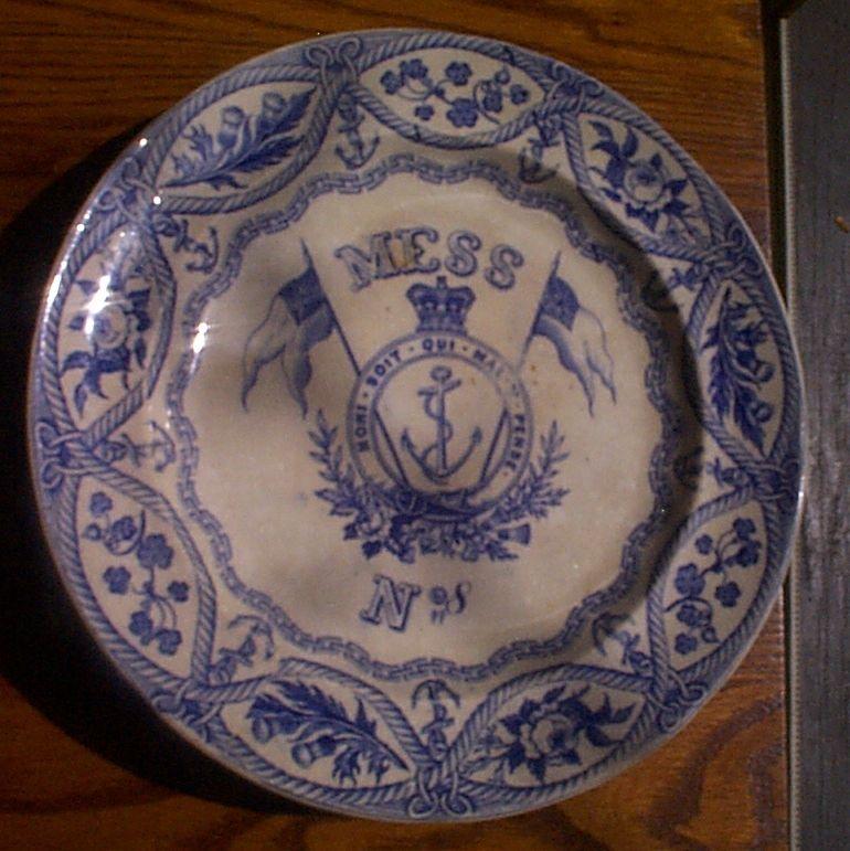 1850-1901 British Royal Navy Mess Plate No 8,