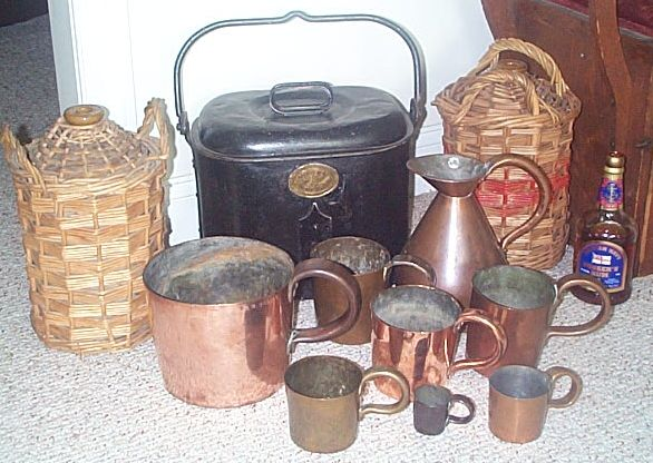 british royal navy collection of 19th 20th Century Rum and Grog items