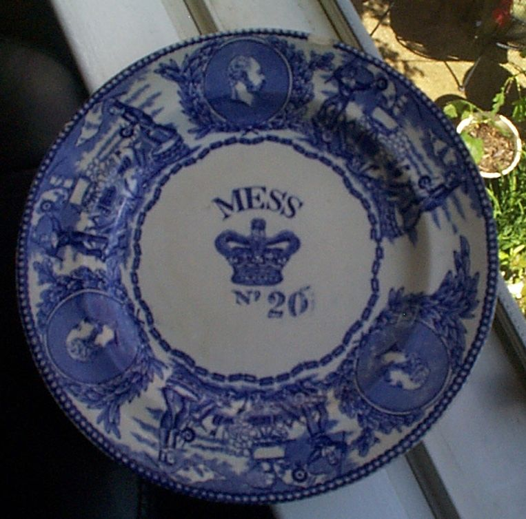 1880s-1901 British Royal Navy Mess Bowl No 20 Edward, with Crown