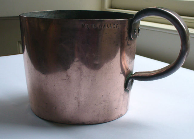 british royal navy rum cup copper measure 1 gallon 19th century