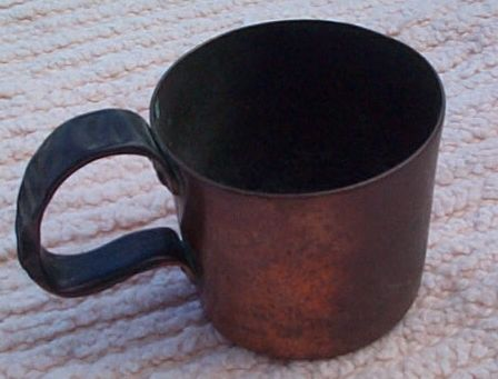 british royal navy rum cup 1/2 pint 19th century