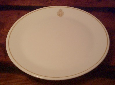 royal canadian china navy dinner plate