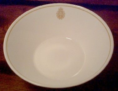 royal canadian china navy soup bowl