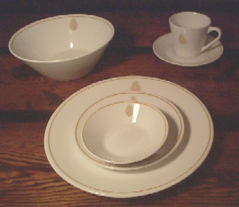 royal canadian china navy 7 piece dinnerware china