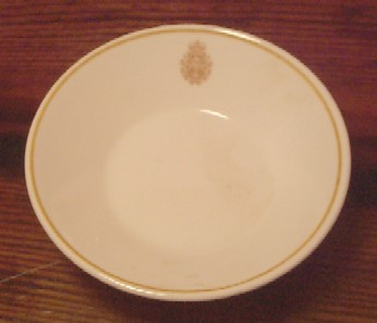 royal canadian china navy berry bowl, side dish, side bowl