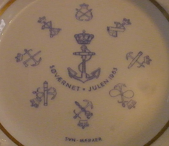 royal danish navy topmark and naval insignia