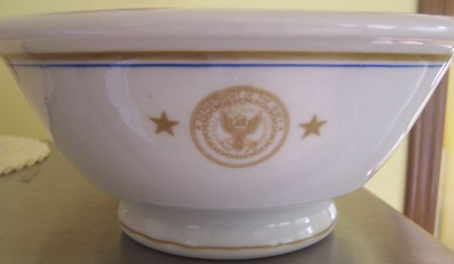 rear admiral 2 star department of the navy vintage serving bowl