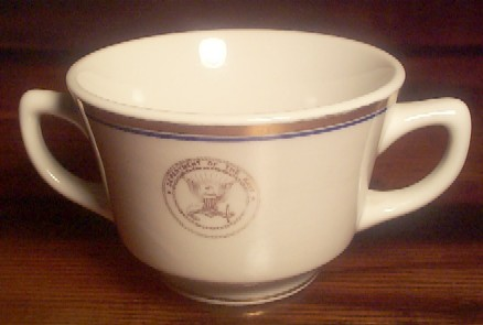department of navy double handle china bouillon cup
