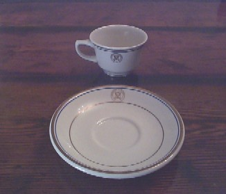 department of the navy vintage china tea cup or coffee cup and saucer setp