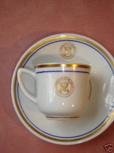 department of navy demitasse cup and saucer set (both)