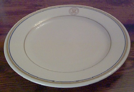 department of navy china lunch plate