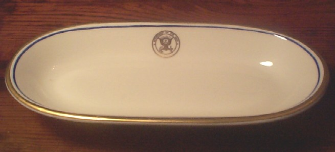 RARE department of navy china celery dish