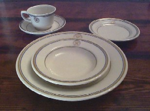 department of navy 5 piece placesetting