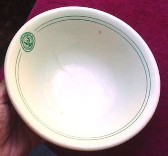 Antique United States Navy Serving Bowl by Carr China