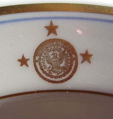 vice admiral 3 star department of the navy vintage serving bowl