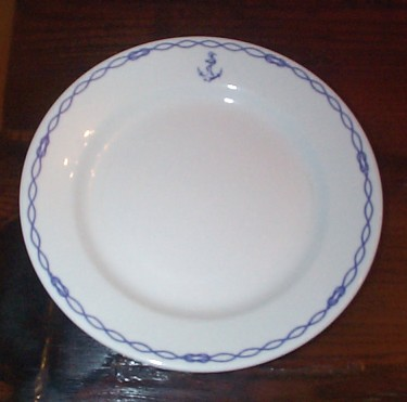 French Navy Dinner Plate for the Petty Officer's Mess
