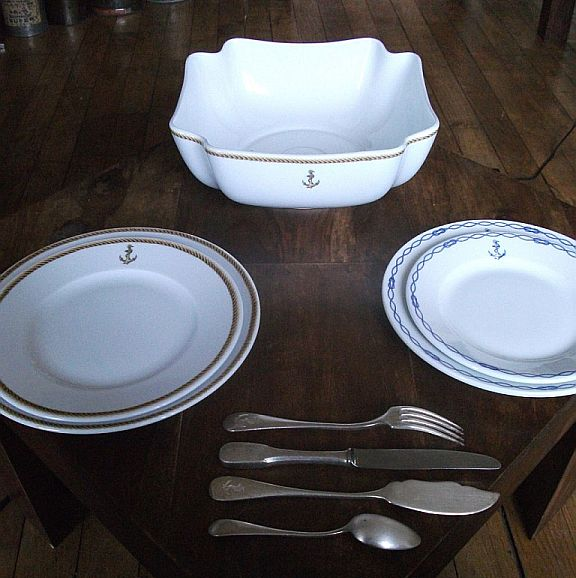 French Navy Large Serving Bowl for the Officer's Mess