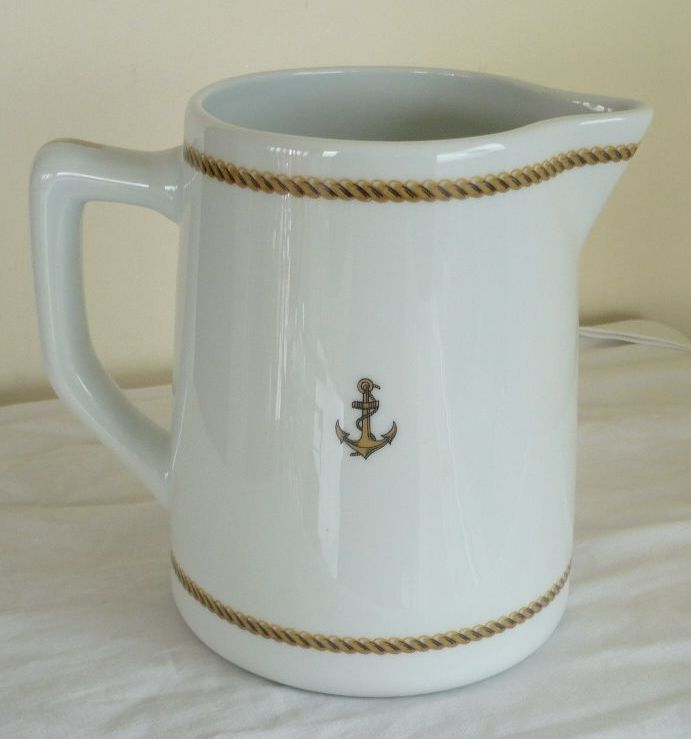 french navy milk or cream pitcher for wardroom officers mess
