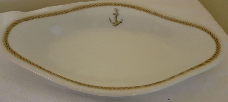 french navy oblong serving dish for wardroom officers mess