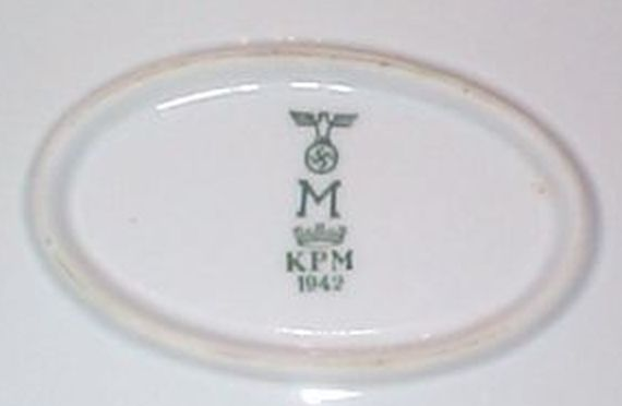 Serving Platters with Green Stripes Kriegsmarine WWII