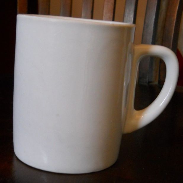 German Kriegsmarine tall white coffee cup dated 1941 by Jager Eisenberg