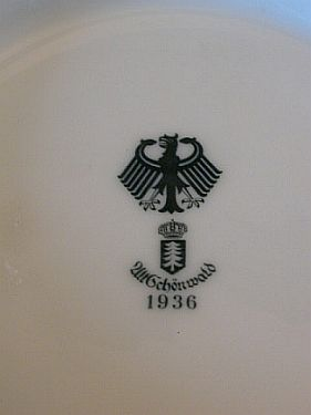 Imperial German Army Reichwaffenamt Ordinance stamp on a cup