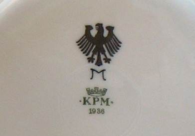 Imperial German Navy Reichwaffemt Ordinance stamp on a plate