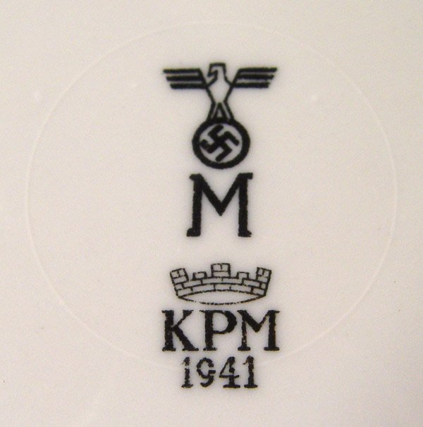 kriegsmarine third reich waffenamt on bottom of soup bowl