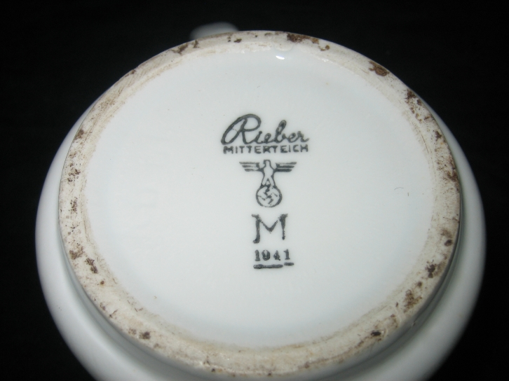 kriegsmarine third reich waffenamt on bottom of coffee cup
