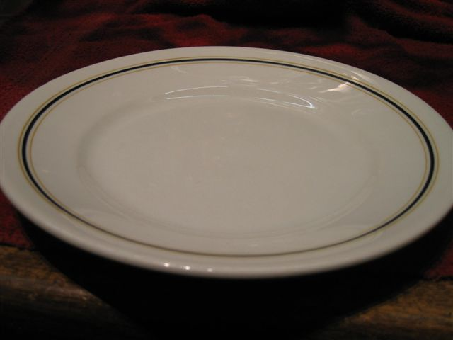 kriegsmarine plate with blue gold stripes
