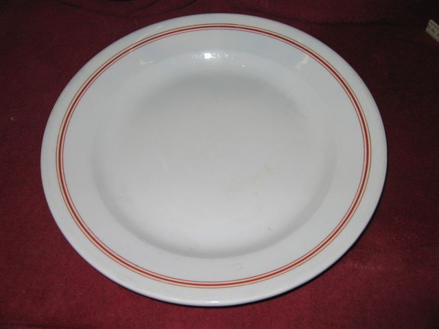 kriegsmarine plate with red stripes