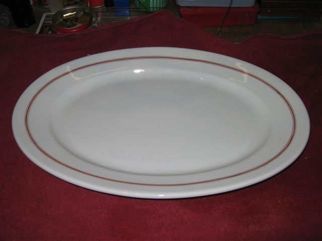 kriegsmarine platter red stripes