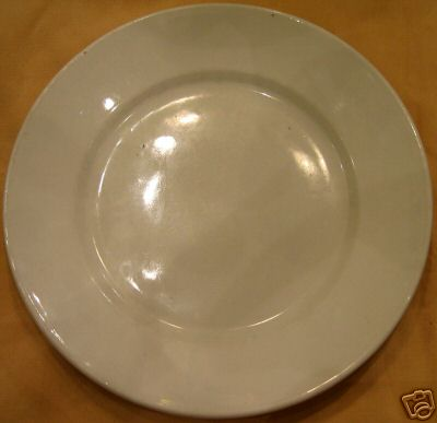 kriegsmarine white china plate possibly used by enlisted sailors