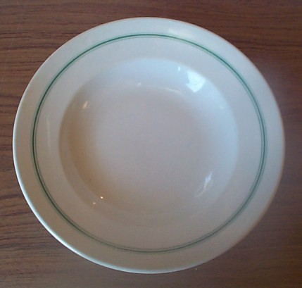 kriegsmarine white bowl with green stripes