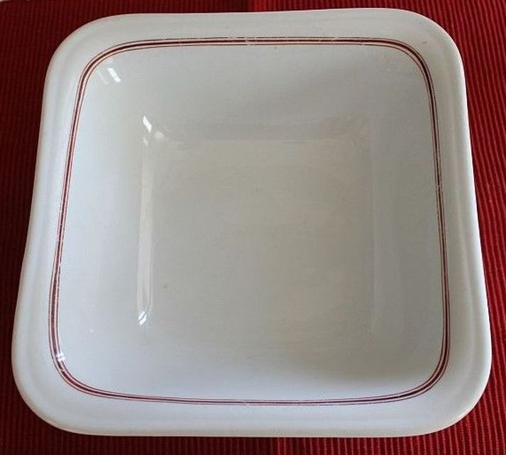 German Kriegsmarine Serving Bowl w/ Red Striping