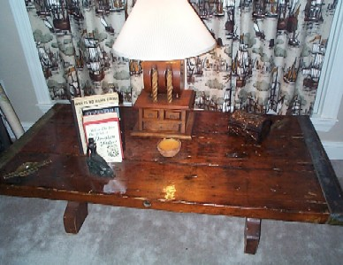 liberty ship wooden hatch cover coffee table