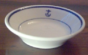 us navy berry bowl, anchor